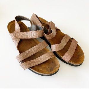 NAOT Cork Footbed Leather Comfort Sandal EU38 US 7